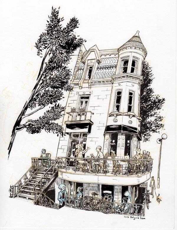 The Corner of St Denis & Rue Roy E.