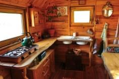 Die Küche im Bauwagen