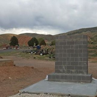 A new memorial is being constructed near the East Side Cemetery in Salina Utah. This memorial is in honor of the German POW's who lost their lives nearby. - Photo by Kirk Rasmussen