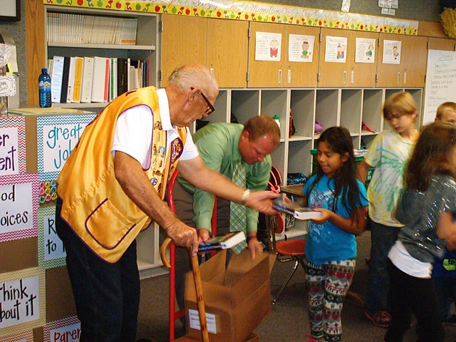 Dictionary Donation to School