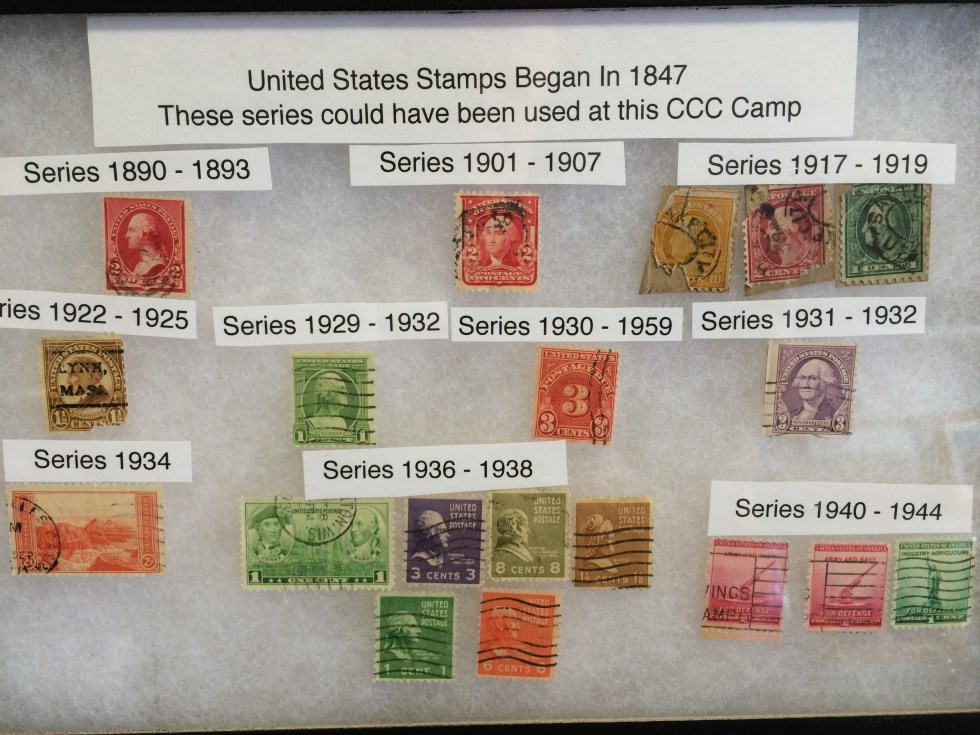 Stamps Donated by the Utah Treasure Association for the CCC Camp Museum.