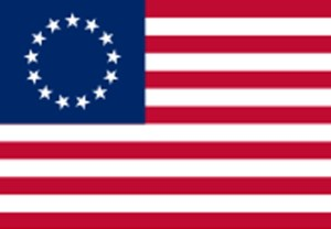 "#1) 13 Original Colonies, ""Betsy Ross"""