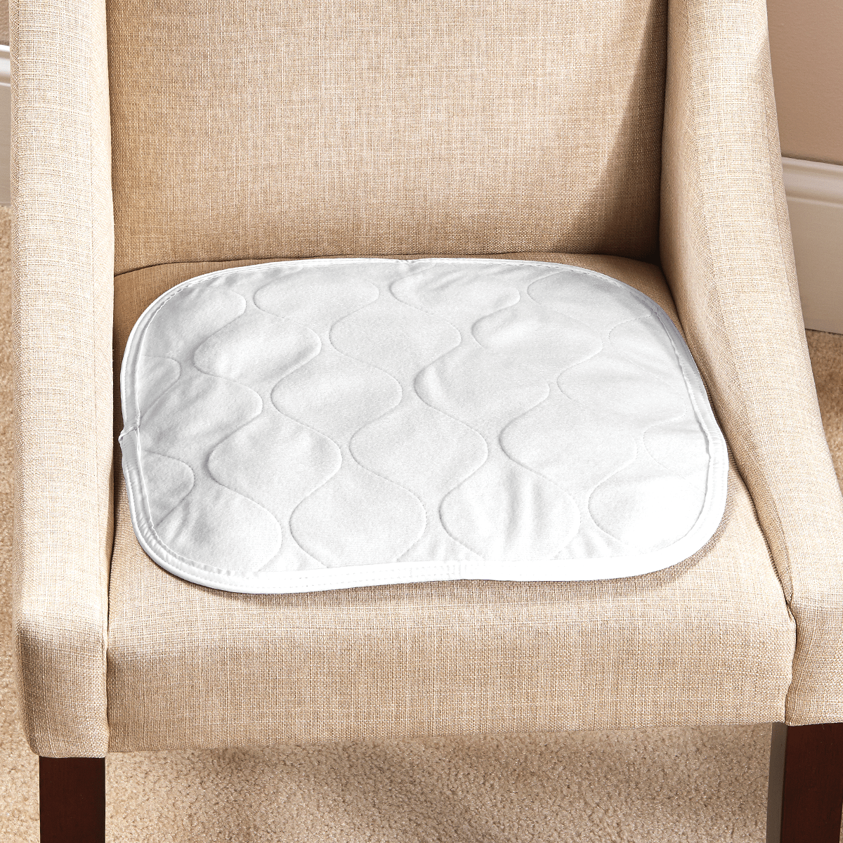 chair covers for incontinence round back carefor deluxe seat pad salk inc