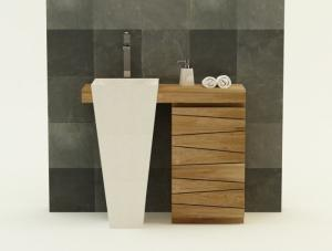 Nos Meubles Avec Lavabo Intgr En Teck Vasque Simple