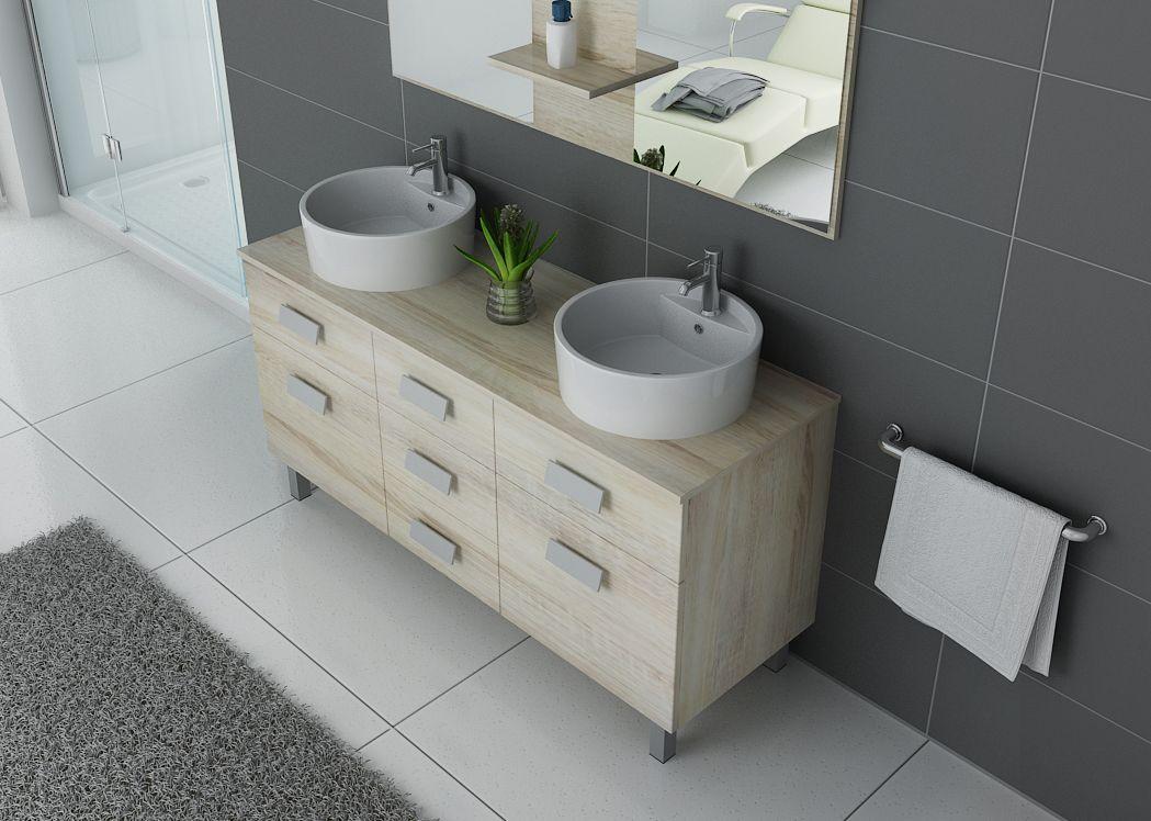 Meuble de salle de bain 2 vasques sur pieds meuble 2 vasques scandinave sur pieds