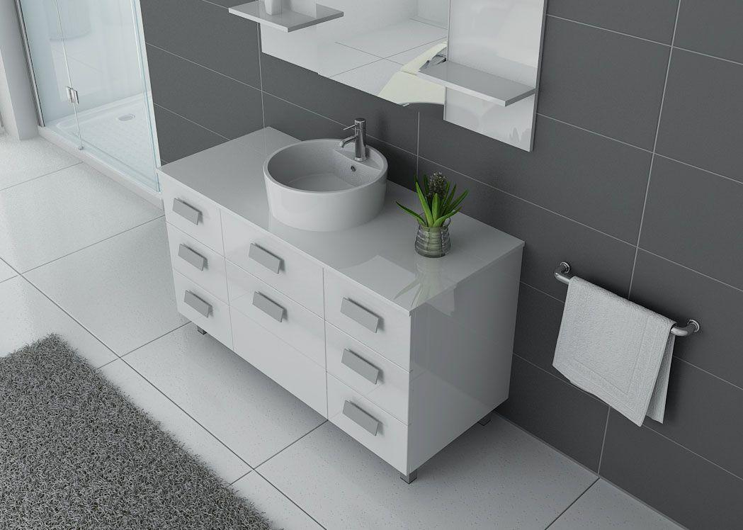 Meuble 1 Vasque Blanc Laqu Meuble Blanc Laqu Pour Salle