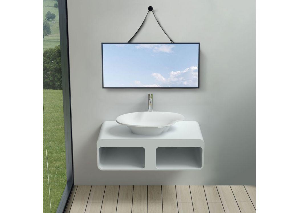 Plan de toilette suspendu avec rangements et vasque palette SDK52SDV45N