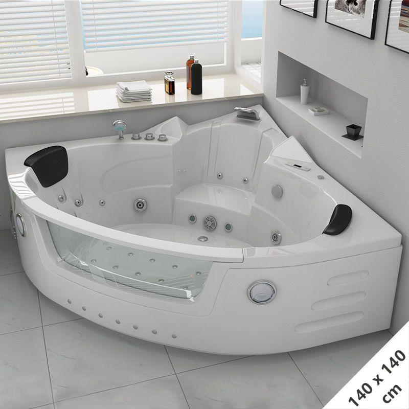 baignoire d angle balneo 140x140 maeva baignoire balneo d angle avec cascade 140x140