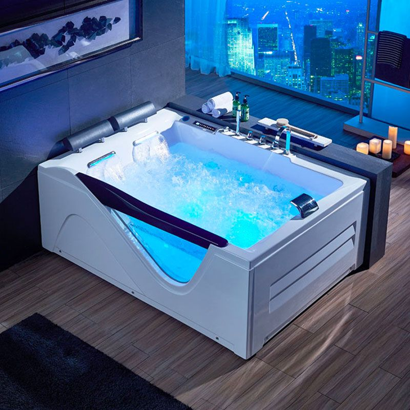 baignoire balneo rectangulaire d cayenne whirlpool 48 jets