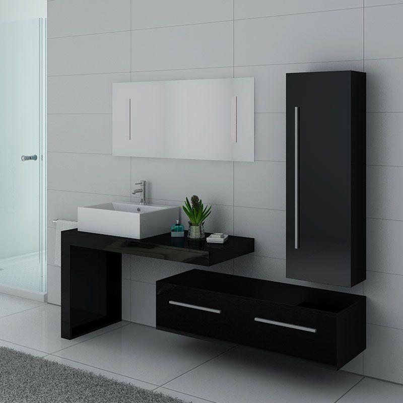 meubles salle de bain dis9250n noir