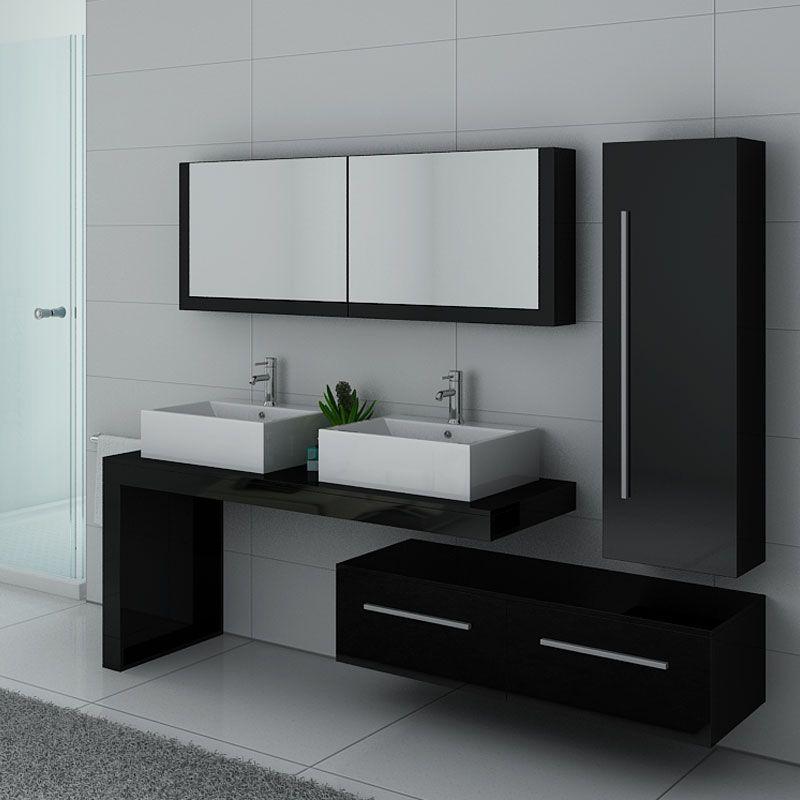 meubles salle de bain dis9350n noir