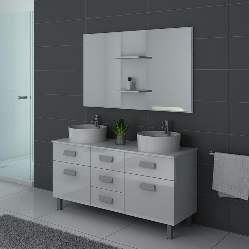 meubles salle de bain dis911b blanc