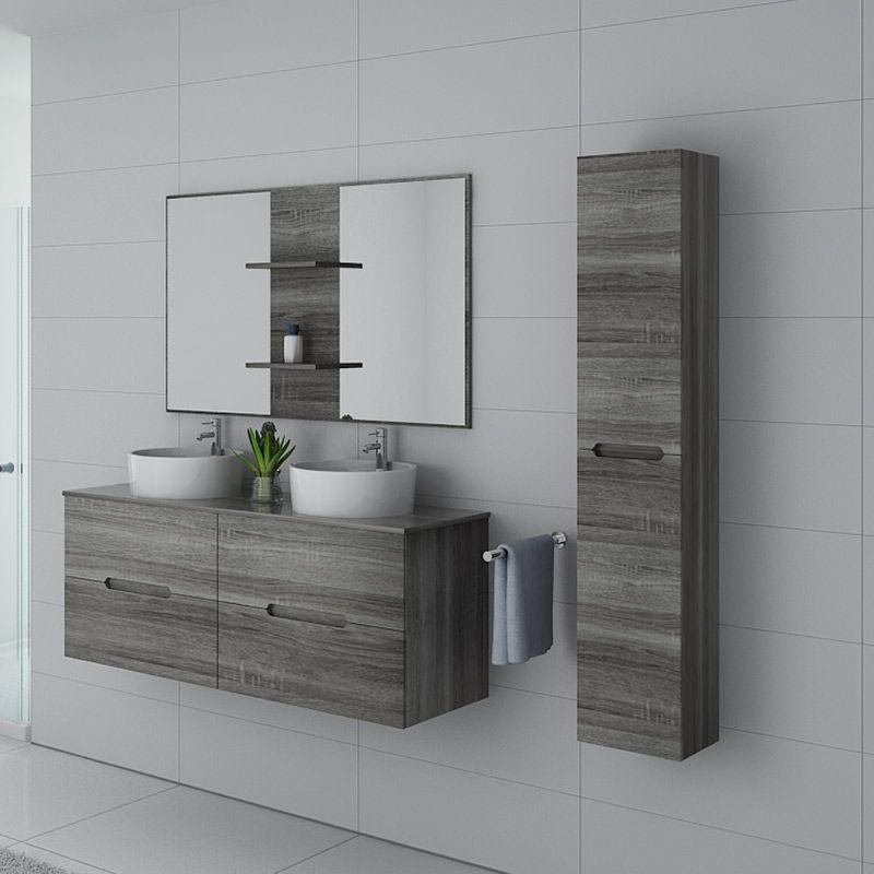 meubles salle de bain rivalto chene gris