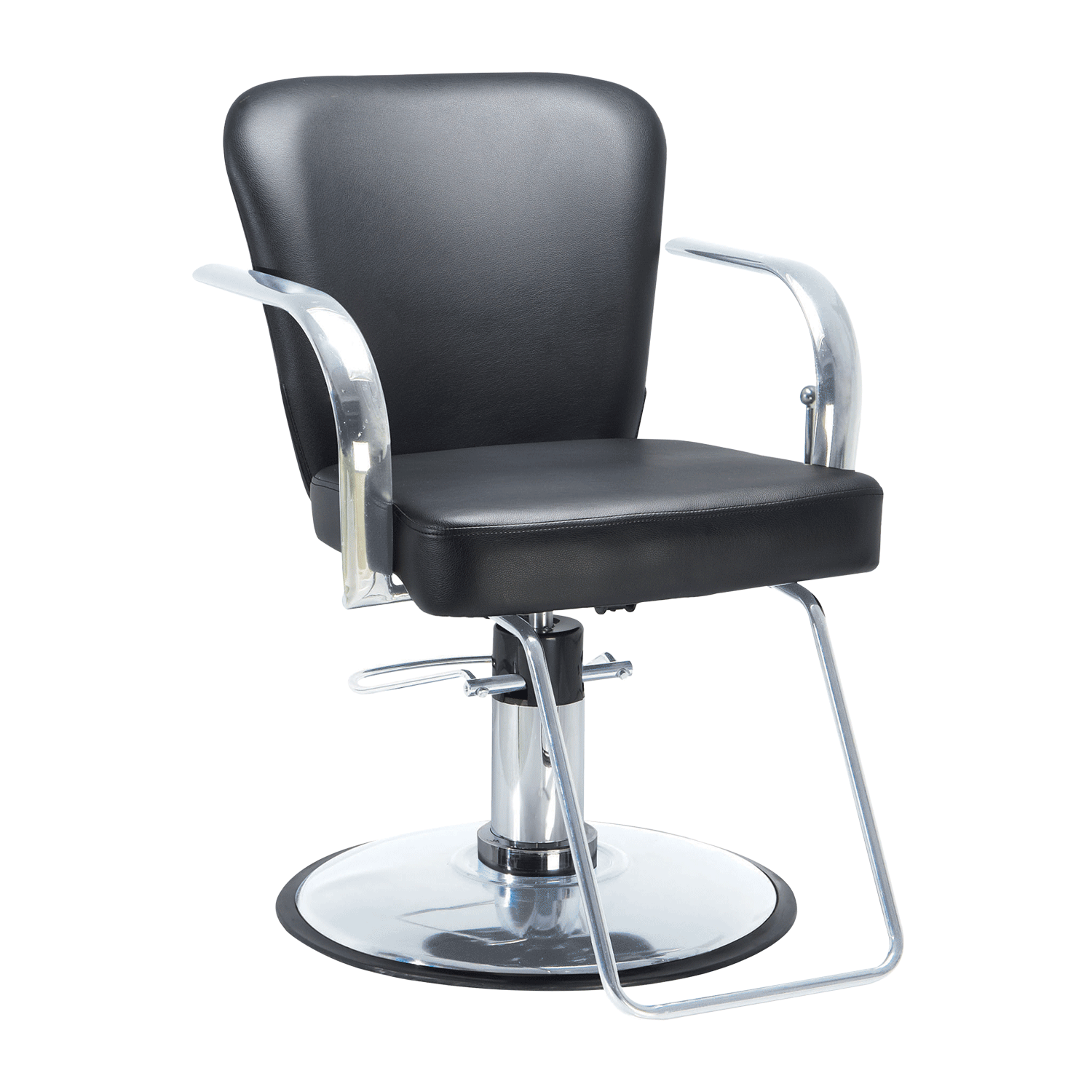 all purpose salon chairs reclining wooden folding directors chair dryer stools sally beauty chromium cr24 11 styling with chrome base