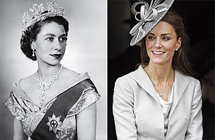 Queen Elizabeth portrait, Princess Kate portrait