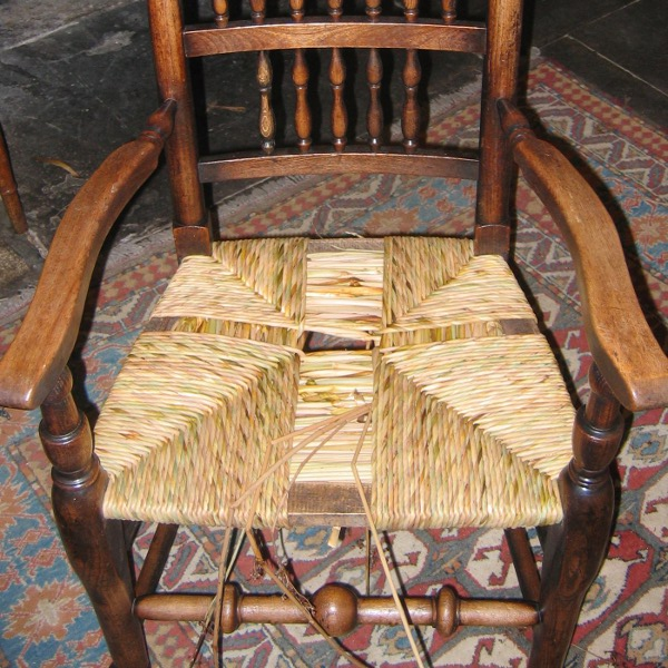 rush seat chairs folding bistro table and chair repairs arm