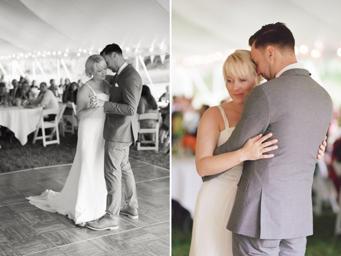 Bride and groom's first dance as man and wife at 1774 Inn