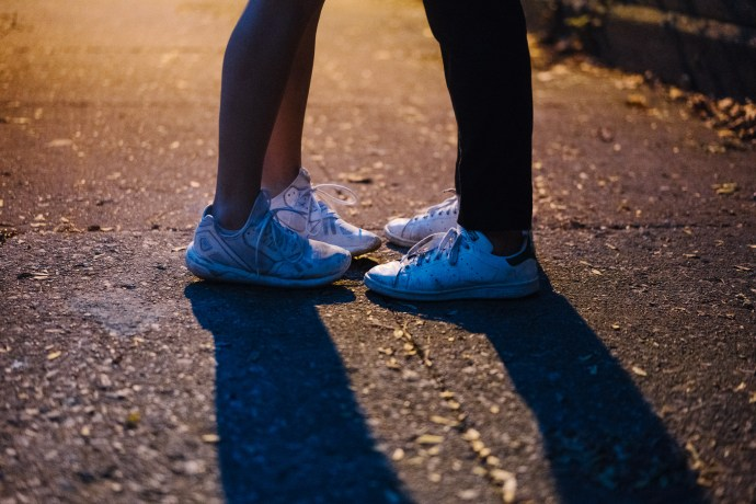 Cute picture of sneakers for engagement photo shoot