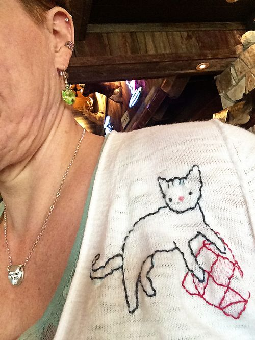 Crafty Cat embroidered sweater 6