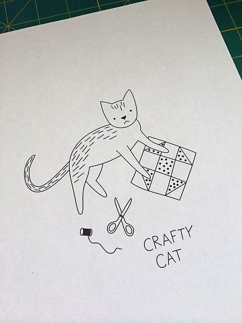 Crafty Cat embroidered sweater 1