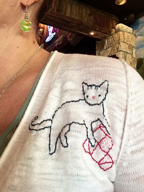 Crafty Cat embroidered sweater 5