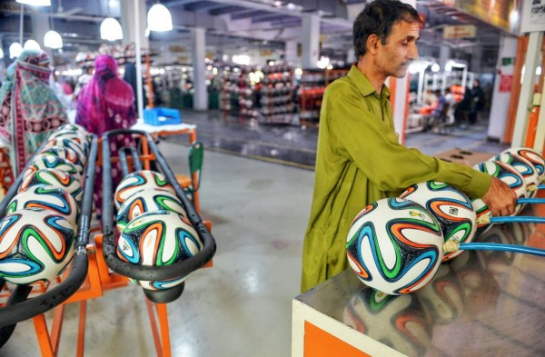 Footballs in Pakistan