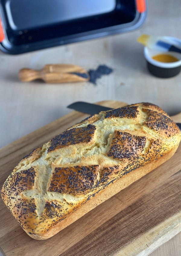 Un pain de mie aux graines de pavot si facile et tellement délicieux!