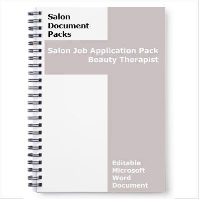 Beauty Therapist Job Application Form
