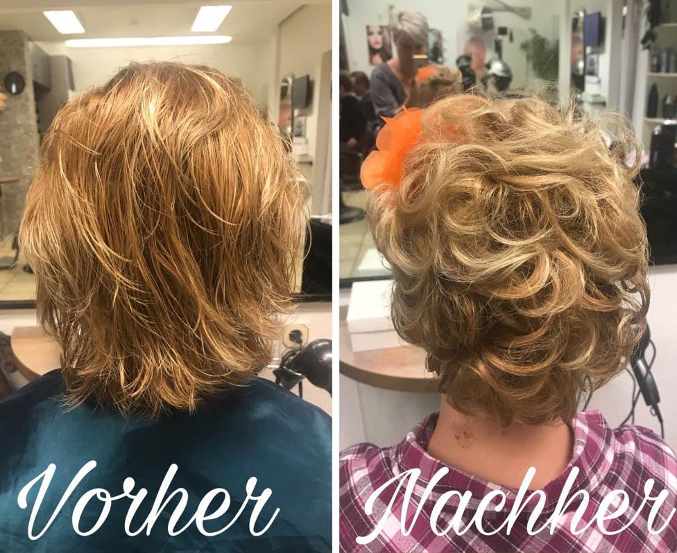 Volumenwelle Friseur Vorher Nachher  Friseur