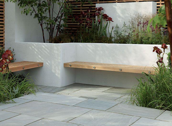 banc de jardin design planche de bois