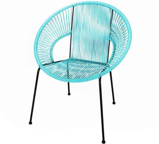 Chaise De Jardin Ipanema Fil Bleu Turquoise 95 Salon Dt