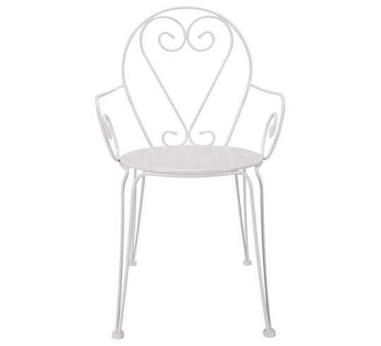 fauteuil de jardin romantique blanc fauteuil de jardin