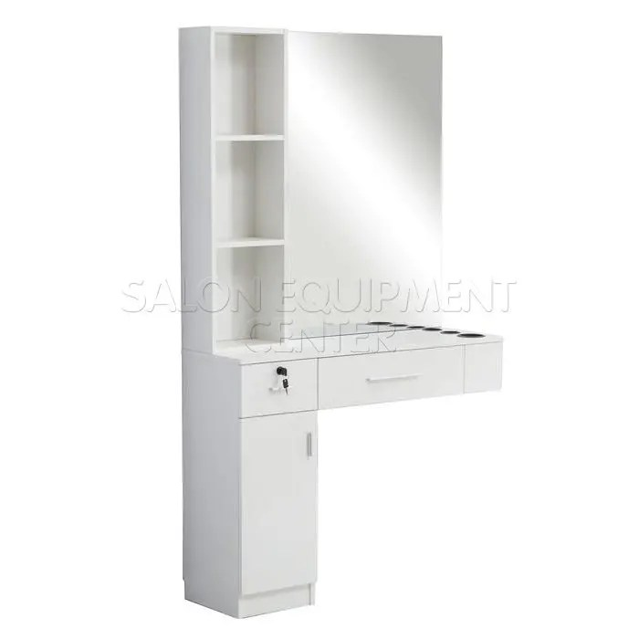 lucky wall mount styling station with mirror