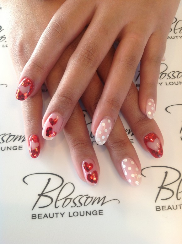 Blossom Beauty Lounge Valentine's Day nail art