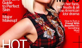 Nicki MInaj wears Artistic Color Gloss in Posh on cover of August Marie Claire