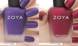 Zoya matte swatches