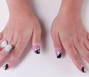Kiss Back to School nail art tutorial