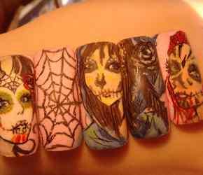 Halloween Sugar Skull Nail Art Tutorial