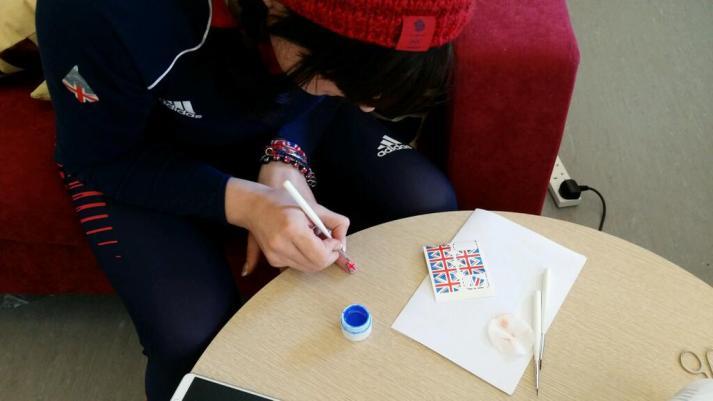 paula walker painting nails