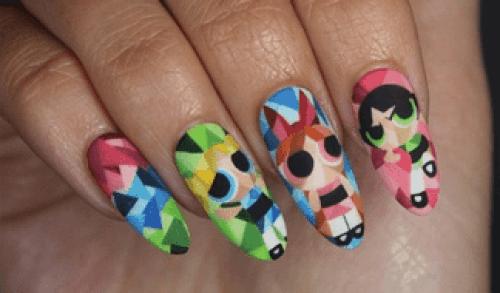 powerpuff-girls-nail-art