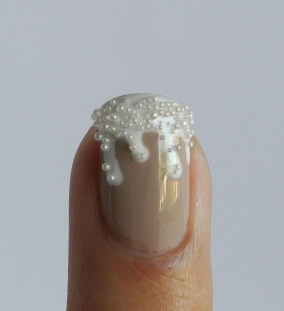 champagne & caviar nail art tutorial