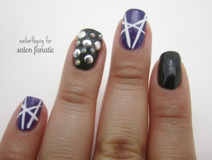 striped-studded-nails