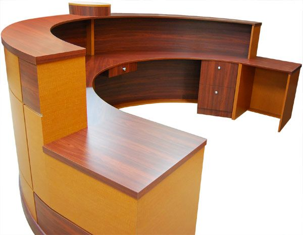 Sigaro Half Circle Reception Desk Design X Mfg  Salon