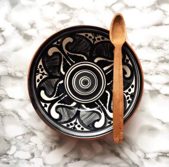 Casa Cubista Keramikschale Salatschüssel Colheita schwarz