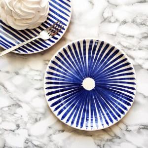 Casa Cubista Keramik Keramikteller Ray blau