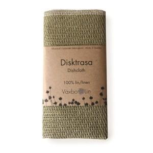 Spül- und Putztuch Disktrasa in salbeigrün aus Bio-Leinen von Växbo Lin