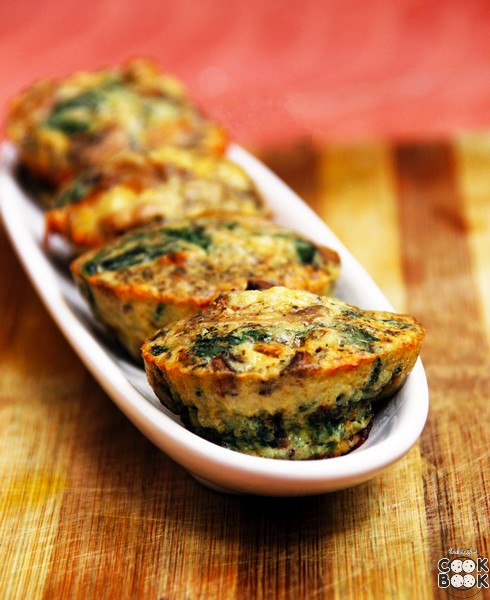 Mushroom And Spinach Muffin
