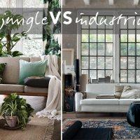 Interni case moderne: lo stile jungle e industrial a confronto.