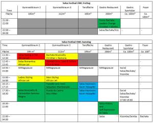 Salsafestival OWL - Paderborn Workshopplan