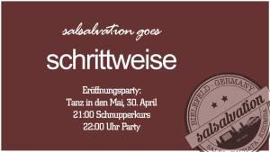 """Eröffnungsparty Salsalvation """"schrittweise"""""""